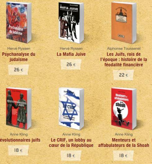 livres sur les juifs soral