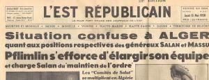crise coloniale Algérie